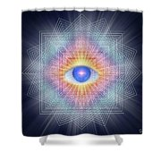 Sacred Geometry 101 Shower Curtain