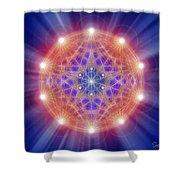 Sacred Geometry 168 Shower Curtain