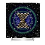 Sacred Geometry 181 Shower Curtain