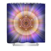 Sacred Geometry 185 Number 2 Shower Curtain
