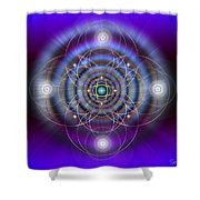 Sacred Geometry 369 Shower Curtain