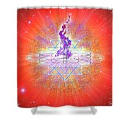 Sacred Geometry 73 Shower Curtain