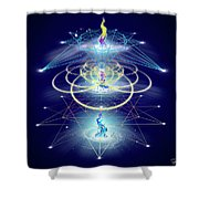 Sacred Geometry 80 Shower Curtain