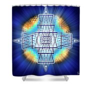 Sacred Geometry 86 Shower Curtain