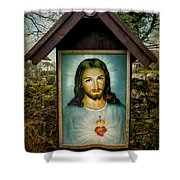 Sacred Heart Of Jesus Shower Curtain