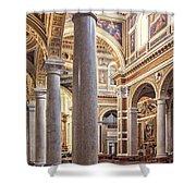 Sacred Heart Of Jesus Church Rome Italy Shower Curtain