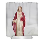 Sacred Heart Of Jesus Shower Curtain