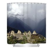 Sacred Mountain Echos Shower Curtain