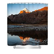 Sacred Mountain In Tibet - Mount Kailash Shower Curtain