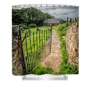 Sacred Path Shower Curtain by Adrian Evans