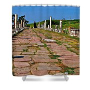 Sacred Road To Asclepion In Pergamum-turkey  Shower Curtain