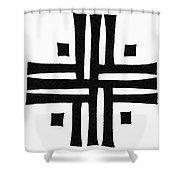 Sacred Roman Cross Shower Curtain