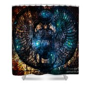 Sacred Scarab Shower Curtain