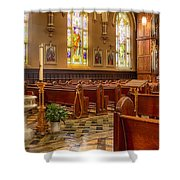 Sacred Space - Our Lady Of Mt. Carmel Church Shower Curtain