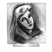 Sad Girl  Shower Curtain