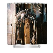 Saddle And Chaps Shower Curtain