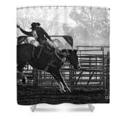 Saddle Bronc Riding Shower Curtain