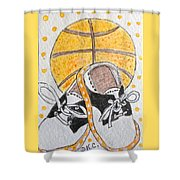 Saddle Oxfords And Basketball Shower Curtain