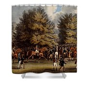 Saddling In The Warren, Print Made Shower Curtain