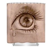 Sadness In The Eye Shower Curtain