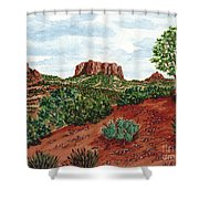 Sadona Two Mountains Shower Curtain