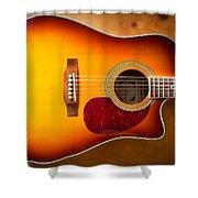 Saehan Guitar Body Shower Curtain