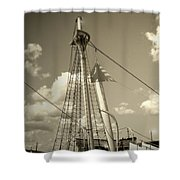Safe Harbor At Sunset Shower Curtain