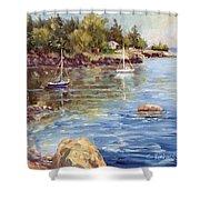 Safe Harbor - Oak Point Shower Curtain