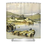 Safed Shower Curtain