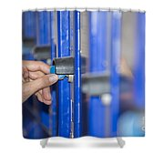 Safety Box Shower Curtain