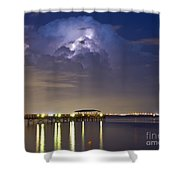 Safety Harbor Pier Shower Curtain