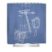 Safety Parachute Patent From 1919 - Light Blue Shower Curtain
