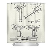 Safety Razor Patent 1937 Shower Curtain