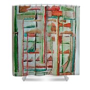 Sage Abstract Shower Curtain