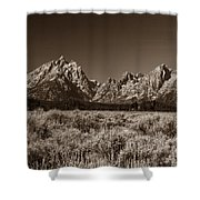 Sagebrush And Tetons Shower Curtain