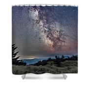 Sagittarius Over Sagebrush Shower Curtain
