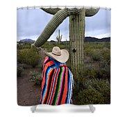 Saguaro Cactus The Visitor 1 Shower Curtain