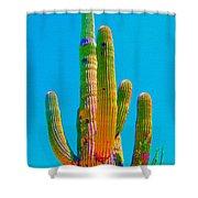 Saguaro Colors Shower Curtain