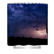 Saguaro Lightning  Shower Curtain