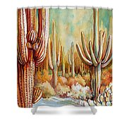 Saguaro National Forest Shower Curtain