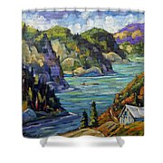 Saguenay Fjord By Prankearts Shower Curtain