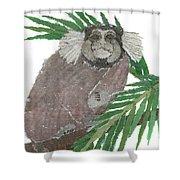 Tamarin Monkey Art Shower Curtain