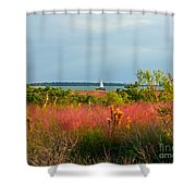 Sail Boat Honeymoon Island Shower Curtain