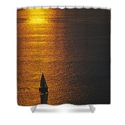 Sail Boat On Puget Sound Shower Curtain