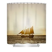 Sail Boat On The Horizon Shower Curtain