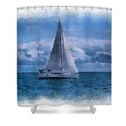 Sail Boat Photo Art 01 Shower Curtain