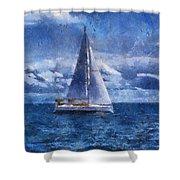 Sail Boat Photo Art 02 Shower Curtain