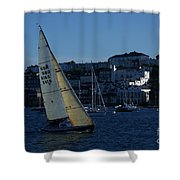 Sail Boat Racing Penryn River Five Spring 2010 Shower Curtain