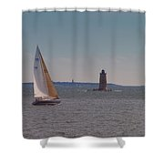 Sail On The Tide Shower Curtain