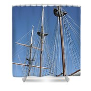 Sail Rigging Shower Curtain